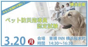 【横浜】3月のペット防災指導員認定試験
